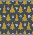 seamless christmas patterns on black background vector image vector image