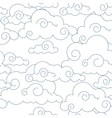 seamless stylized clouds pattern vector image vector image