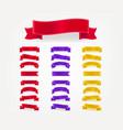 set color decorative horizontal bows template vector image