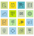 set of 16 project management icons includes time vector image vector image