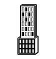 skyscraper building icon black silhouette vector image vector image
