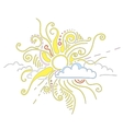 Sun rays ornament vector image vector image