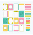 template for notebooks cute design elements flat vector image vector image