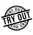 try out rubber stamp vector image vector image