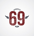varsity number garment theme vector image vector image