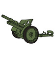vintage green cannon vector image vector image