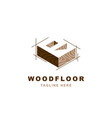 wood logo with letter r shape vector image vector image