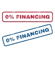 0 Percent Financing Rubber Stamps vector image vector image