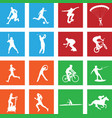 16 simple sport icon vector image vector image
