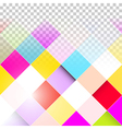 Abstract Background - Transparent Colorful Squares vector image vector image