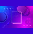 abstract geometric background futuristic gradient vector image