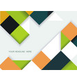 abstract geometric shape from color rhombus