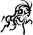 antelope in tribal style vector image vector image