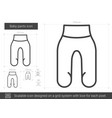 baby pants line icon vector image vector image