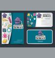 back to school corporate identity design set vector image