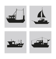 boat ship sea design vector image vector image