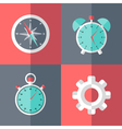 business flat icons set pink and blue vector image vector image