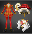 card game joker expensive costume realistic vector image