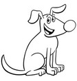 cartoon dog animal character color book vector image vector image