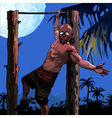 cartoon funny man hanging on a horizontal bar vector image vector image