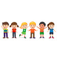 children in different positions vector image