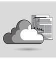cloud data base center vector image vector image