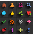 Color additional sign flat icon vector image vector image