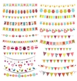 Colorful bunting and garlands vector image vector image