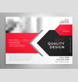 creative business flyer in red black design vector image