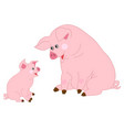 cute cartoon pigs vector image vector image