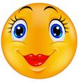 Cute female emoticon smiley vector image vector image