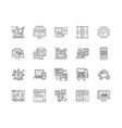 data analysis line icons signs set vector image vector image