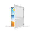 door with beach vector image