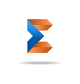 e letter - blue and orange business logo icon vector image