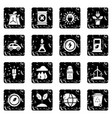 ecology icons set grunge vector image vector image