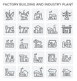 factory industry plant vector image
