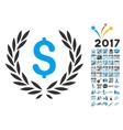 Financial Laurel Wreath Icon With 2017 Year Bonus vector image