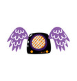 flat guitar amplifier with wings icon vector image