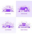 flat line purple designed concepts 2 vector image vector image