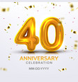 fortieth anniversary celebration number vector image
