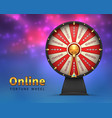 fortune wheel background lucky money risk game vector image vector image
