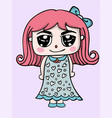 girl cute character design vector image vector image