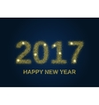 Gold glitter Happy New Year 2017 vector image