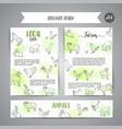 hand drawn farm animals brochure local farm card vector image vector image