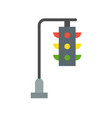 hanging traffic light flat icon vector image vector image