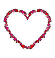 heart love frame icon vector image