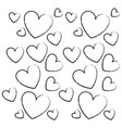 hearts pattern background sketch vector image