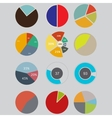 Infographic Elements pie chart set icon business vector image