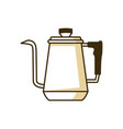 kettle coffee shop equipment vector image