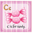 Letter C is for candy vector image